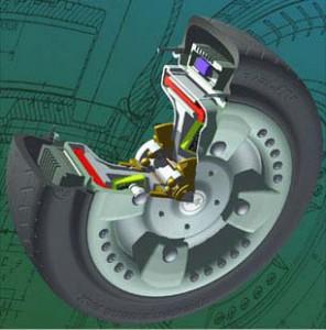 Moteur roue du monorail MGV